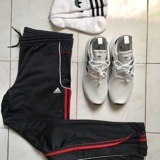 Adidas track pants classic 3 stripes not supreme yeezy bape