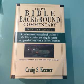The IVP Bible Background Commentary (New Testament) by Craig S Keener