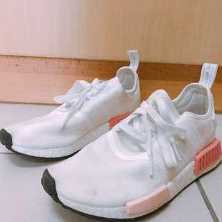 $4500 韓專櫃購回正品 adidas nmd r1 白粉 運動鞋 跑步鞋 慢跑鞋 林心如同款 us8 25cm