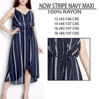 Branded Now Stripe Navy Maci Dress