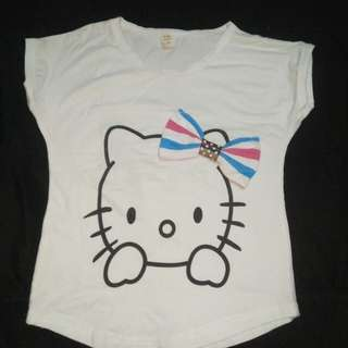 kaos hello kitty 3thn