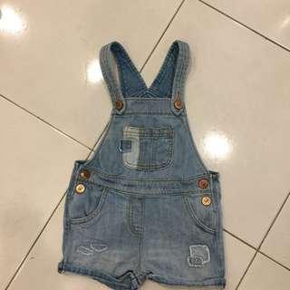 Preloved Next UK jeans dungarees set