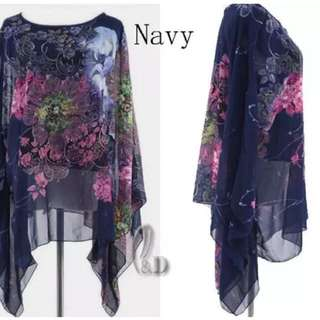 Gorgeous kaftan/top cold shoulder