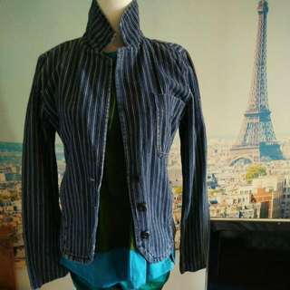 urban outfitters denim stripes jacket