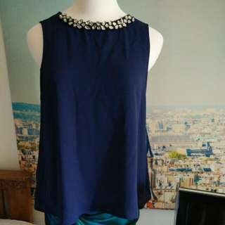 something borrowed blue top