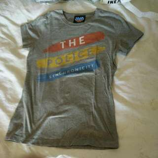 the police tshirt grey