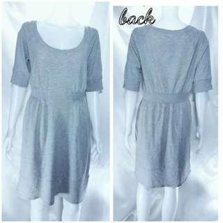 Cotton knit with stretch fabric in grey