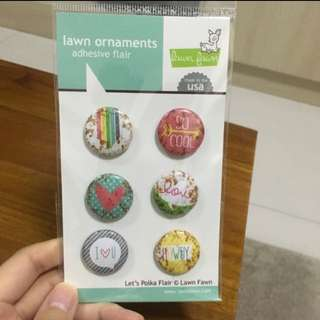 BNIP Lawn Fawn Lawn Ornaments Adhesive Flair