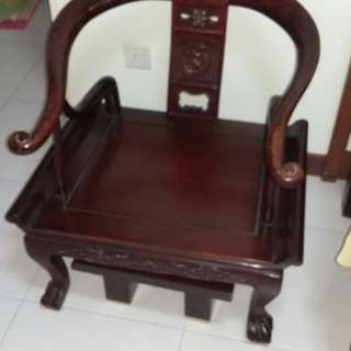 Chinese Antique Furniture - 2 x Single Seat Chairs and 1 x 3-seat Chair