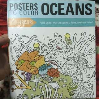 OCEAN COLOURING POSTERS(4pcs)