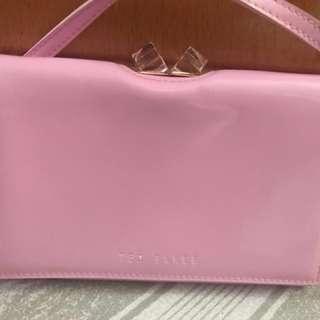 Ted Baker 99%New 可愛粉紅小袋