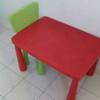 Ikea mammut table and chair