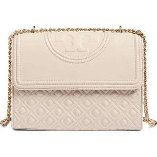 Authentic Tory Burch Fleming Convertible Bag In Bedrock