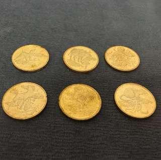 生肖紀念章 (6塊)