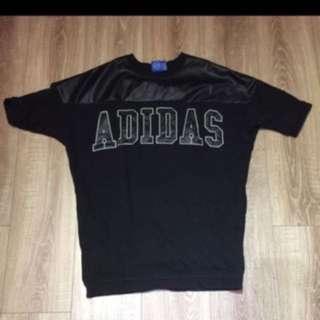 🚚 Adidas皮拼接上衣