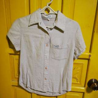 Authentic Guess polo shirt cream