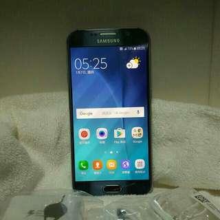 samsung S6 32Gblue,     98%new。藍色,直屏,冇崩損,外觀新淨,跟埋配件,(冇盒)7日壞機可換 ,單卡