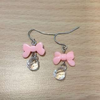 Ear Rings ( Ribbon pink)