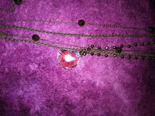 Layers necklace with stone