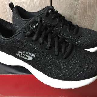 Skechers Empire 12419BKW女鞋-黑US8/CM25