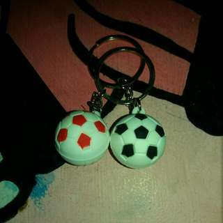 Couple Soccer Ball keychain