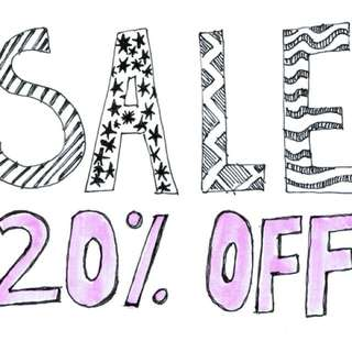 20% OFF FOR ITEMS ABOVE RM100