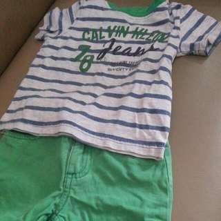 Calvin Klein Shirt And Short Terno