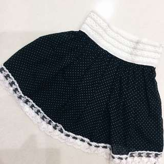 POLKA DOTS SKIRTS WITH LACE