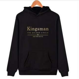 【Whouse哇城】現貨拍照樣品便宜賣不退 2017新款歐美電影周邊 kingsman 王牌特工 黑金色帽T