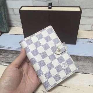 LV white pocket notebook
