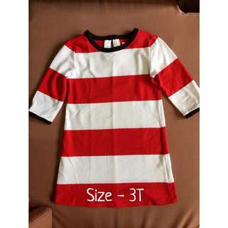 Tommy Hilfiger inspired red and white stripe dress for kids