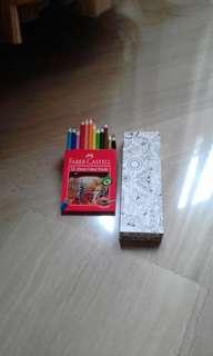 Pencil book bisa di diwarnai gambar.ya +colour pencil