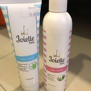 Joielle baby lotion and cream
