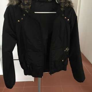 Billabong Black Jacket Size 10