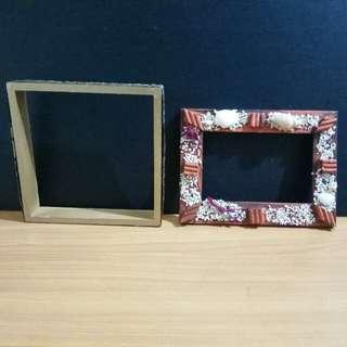 木製方型相框 長方形相框 共2個