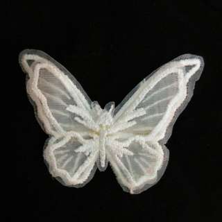 White butterfly hairpin