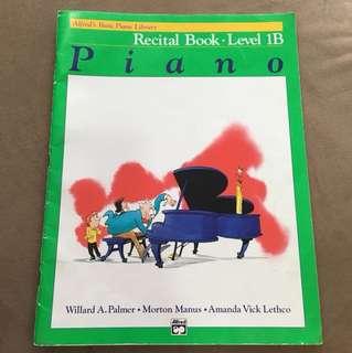 Alfred's Basic Piano Recital Book Level 1B