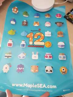 #Blessing Maplestory SEA 12 Anniversary Poster