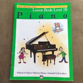 Alfred's Basic Piano Lesson Book Level 1B With CD