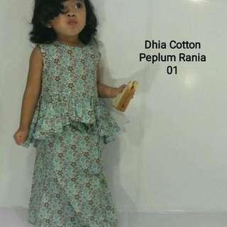 Dhia Cotton Peplum Rania