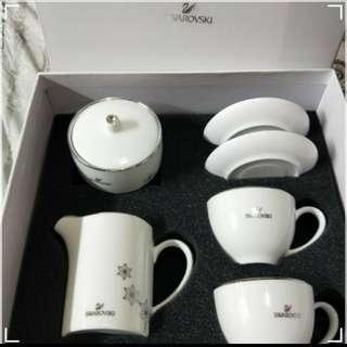Swarovski陶瓷水晶咖啡杯組