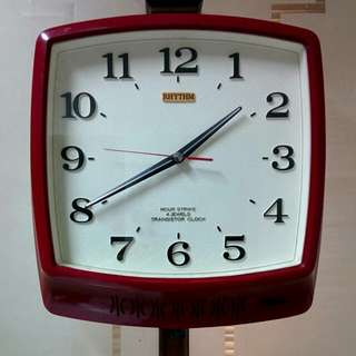 "Jam Dinding jadul transistor Rhythm "" Hour Strike"" with bell"