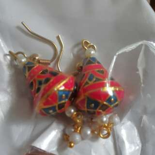 Dangling earrings from India