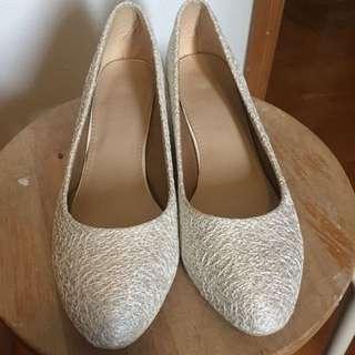 米色婚紗/姊妹鞋