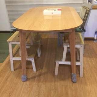 日式家庭圓角餐桌(保留中)