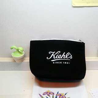 💞全新Kiehls黑色帆布化妝包 #舊愛換新歡