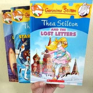 assorted geronimo and thea stilton books!!
