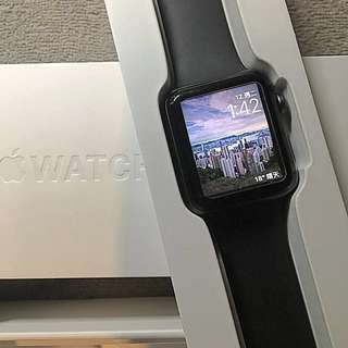 Apple Watch Series 2 - 42mm black col with 3month warranty