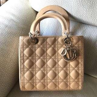 2017 新款女士 Lady Dior 迪奥 經典五格漆皮小羊皮手提包 HandBag