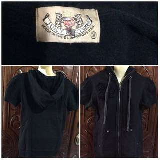 Blk juicy couture short sleeve with hood